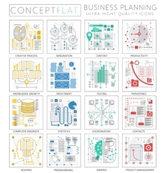 Infographics mini concept Project business finance vector image