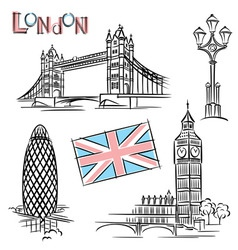 london landmark vector image vector image