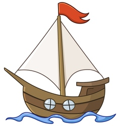 sailboat cartoon vector image