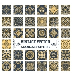 34 Seamless Patterns Background Collection vector image vector image