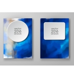 Brochure with Multicolored Blured Backgrounds vector image