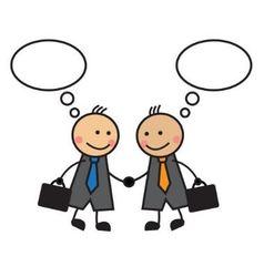 Cartoon businessmen shaking hands vector image vector image