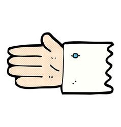 comic cartoon open hand symbol vector image vector image
