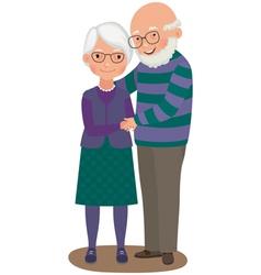 Elderly couple vector image vector image