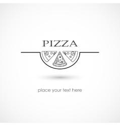 Pizza symbol vector image vector image