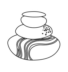 spa stones cartoon vector image