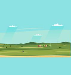 summer counryside landscape horizontal rural vector image