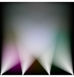 Colorful spotlights vector image