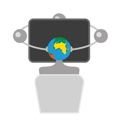 Link Cloud Computing Technology Data Information vector image