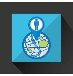 Mobile device paris gps map vector