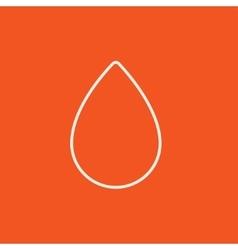 Water drop line icon vector image