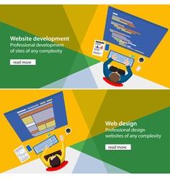 Web developer vector image