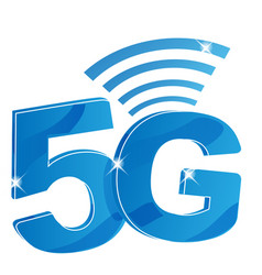 5g internet network logo isolated icon for 5 g vector image
