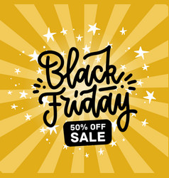 A black friday sale design flat hand drawn letters vector
