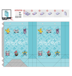 A pattern on a print package for easter vector