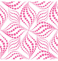 abstact seamless pattern dotted line swirl vector image