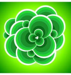 abstract clover vector image