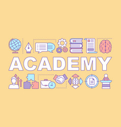 Academy word concepts banner education and vector
