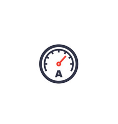 Ammeter icon on white vector