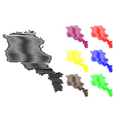 armenia map vector image