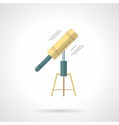 Astronomer tool flat color icon vector