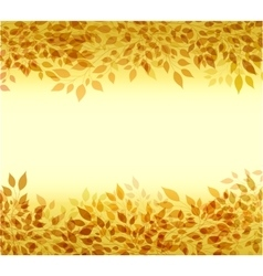 Autumn background branches and leaves vector image