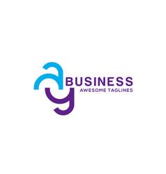 Ay letter logo vector
