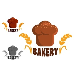 Bakery logo or emblems vector