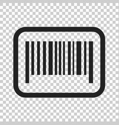 Barcode product distribution icon on isolated vector