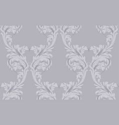 Baroque pattern dark background vintage vector