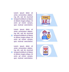 Beware money requests concept line icons with text vector