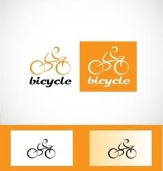 Bicycle cyclist logo icon vector