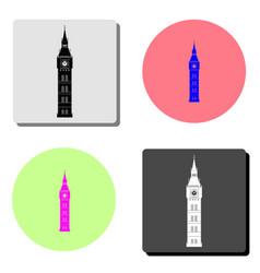 big ben flat icon vector image