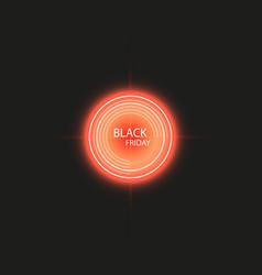 black friday sale handmade lettering target vector image