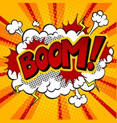 boom word comic book pop art vector image