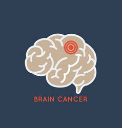 Brain cancer logo icon design vector