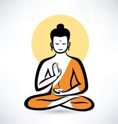 Buddha symbol vector image