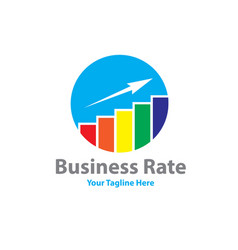 Business rate logo designs vector