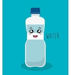 cartoon bottle water design isolated vector image