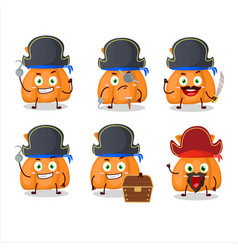 Cartoon character orange candy sack with vector