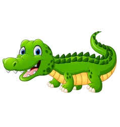 Cartoon crocodile vector image vector image