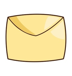 cartoon envelope icon vector image