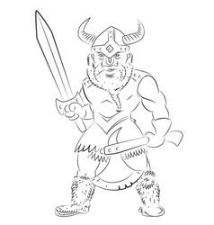 cartoon image of viking warrior vector image