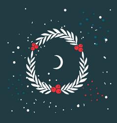 christmas wreath new year holiday celebration vector image
