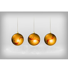 christmass three ball red vector image