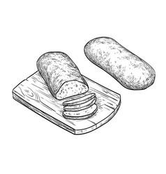 ciabatta bread vector image