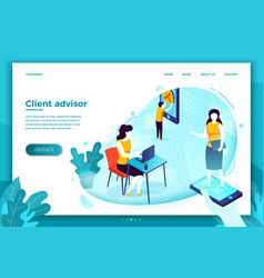 client advisor and man manning problems vector image