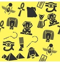 collage flat design egypt vector image