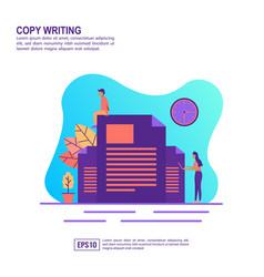 concept copy writing modern conceptual for vector image
