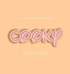 cooky text effect vector image